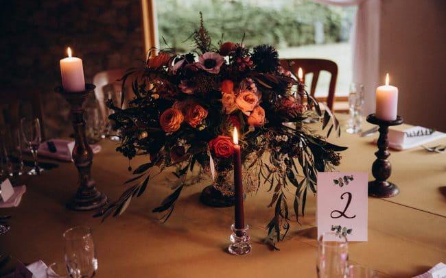 Vestuvės stalo dekoras