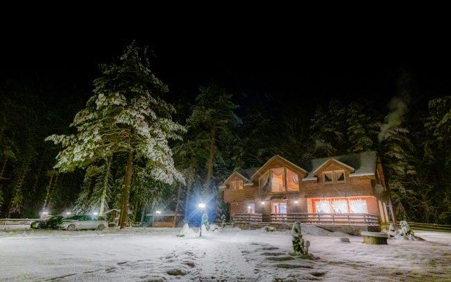 Kaimo turizmo sodyba žiemą